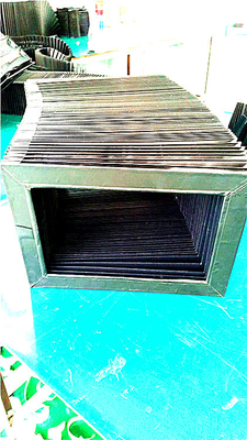 high quality rectangular type covers bellows  for machine way protection made by Gordillo bellows